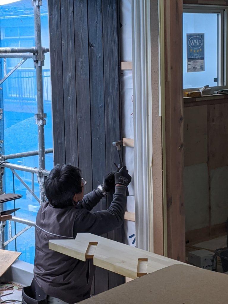 バルコニー外壁工事